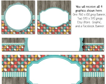 Facebook and Etsy Timeline Set - Partridge Family - Customize for your Facebook and Etsy Business, Etsy COver Photo, Facebook Banner, DIY