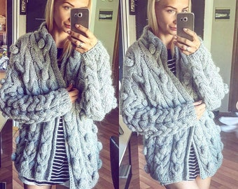woolen grey cardigan