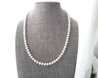 Dove Gray Freshwater Pearl Necklace