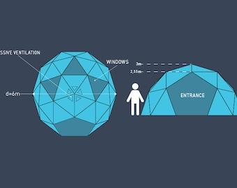 Geodome 6m, event dome