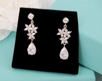 Dance - Cubic Zirconia Bridal Earrings