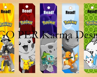 Pokemon Inspired Book Marks! Valentines! Instant Download!