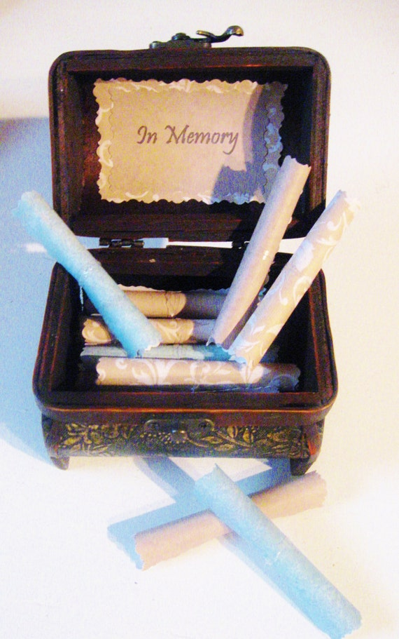 Grief Comfort Scroll Box - Treasure chest of 20 sympathy quotes to bring them comfort in their time of loss & grief - meaningful and custom