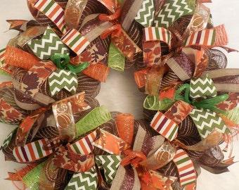 Harvest Decor, Fall Wreath, Fall Wreaths, Harvest Wreath,Thanksgiving Wreath, Happy Harvest Wreath, Harvest Decor
