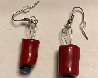 Coral Drop Earrings