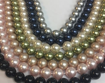 8MM genuine Swarovski pearls 7 colors