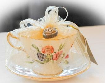 Teacup,candle,vintage,wedding