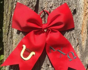 Alpha Chi Omega Hair Bows, Alpha Chi Omega Sorority, Greek hair bow