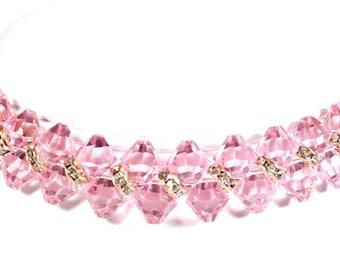 Pink Blossoms Swarovski Pet Necklace