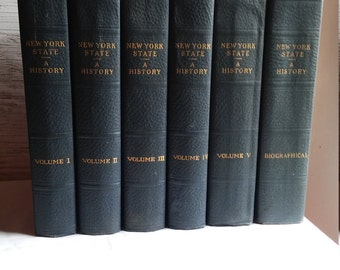Vintage 1927 Edition of the History of New York State in 5 full volumes with a 6th volume being Biographical. Lewis Historical Publishing.