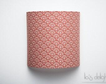 """Applique murale """"Blowballs red"""", japonisant, géométrique, abat jour, abatjour 20cm"""