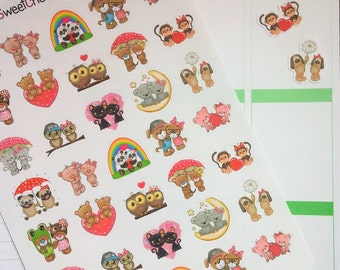 Cute Couples Stickers!  Perfect for Erin Condren Life Planner, MAMBI/Happy Planner, Plum Planner, Etc.