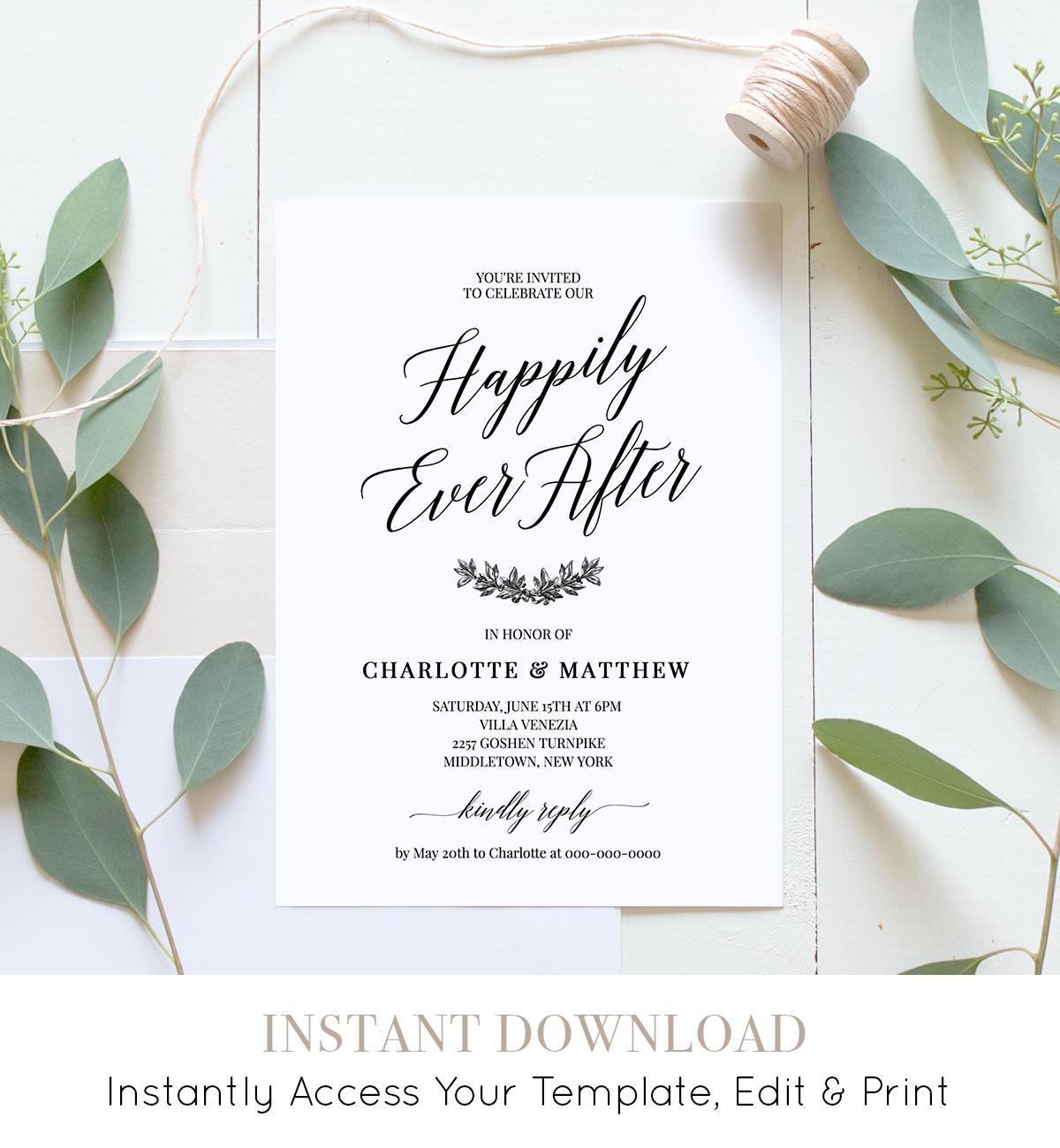Reception After Destination Wedding Invitation: Wedding Reception Party Invitation, Post Wedding