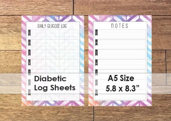 glucose log sheet