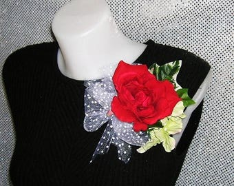 On Sale Red Rose Corsage For Weddings, Prom, Special Events