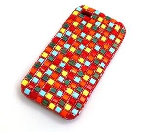 "iphone Samsung case silicone Case ""mosaic-diamonds"", cellphone case, handy cover smartphone"
