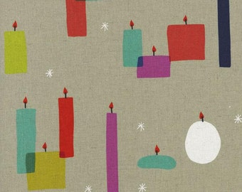 Light a Candle (Canvas Fabric) by Rashida Coleman-Hale from the Moonlit collection for Cotton and Steel