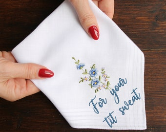 For Your Tit Sweat Handkerchief, Funny Wedding Handkerchief, Bride's Hankie, Bride's Handkerchief, Bridesmaid Gift Idea, Bridesmaid Hankie