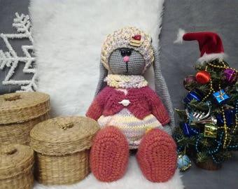 Bunny . Handmade Bunny . Tilda Bunny . Bunny toys  . Cristmas gift .