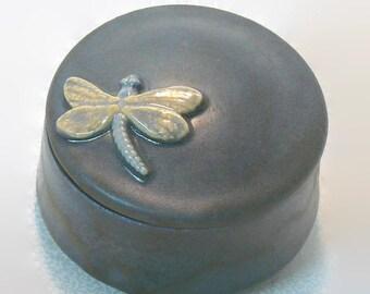 Ceramic Keepsake Box - Dragonfly Keepsake Box