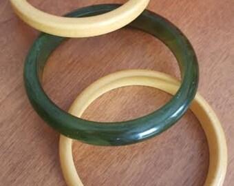Bakelite Bangle Bracelet Set