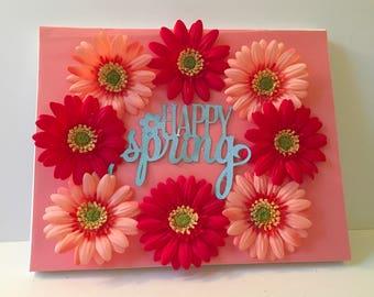 Canvas- Happy Spring Wreath