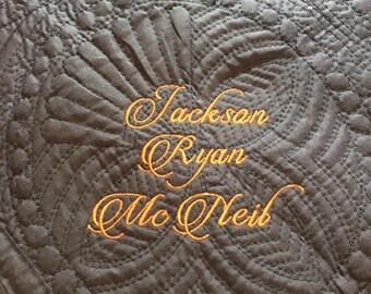 Personalized Baby Blanket, Personalized Baby Quilt, Embroidered Baby Blanket, Embroidered Baby Quilt, New Baby Boy Gift, Baby Boy