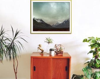 Mountain Art, Travel Art Print, Landscape Photography, Buachaille Etive Mòr, Scotland Art, Emerald Green, Adventure, Snow Capped Mountains