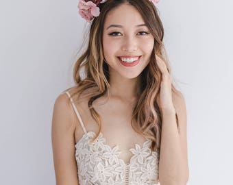 spring racing flower crown // statement flower crown / spring flower crown / spring racing flower fascinator / flower crown fascinator