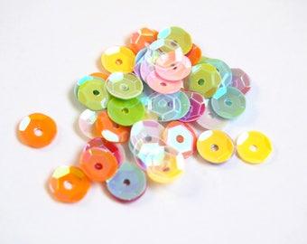 Multicolored and Pearl/iridescent - glitter bag