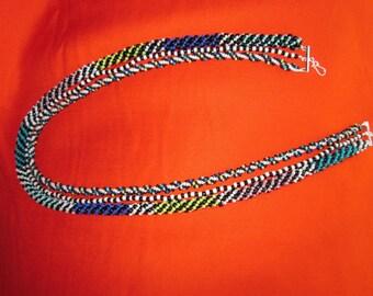 Ngorongoro 3-strand beaded necklace