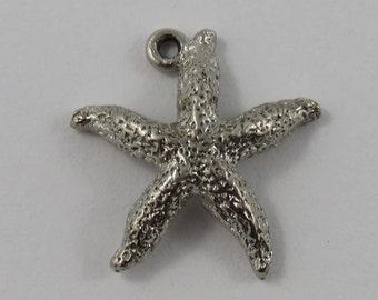Starfish Sterling Silver Vintage Charm For Bracelet