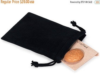 TAX SEASON Stock up 100 Pack Deep Black Velvet Drawstring Bags great for Weddings, Party favors, Jewelry, Etc