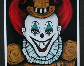 Evil Clown Print