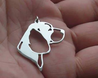 Beagle Sterling silver pendant