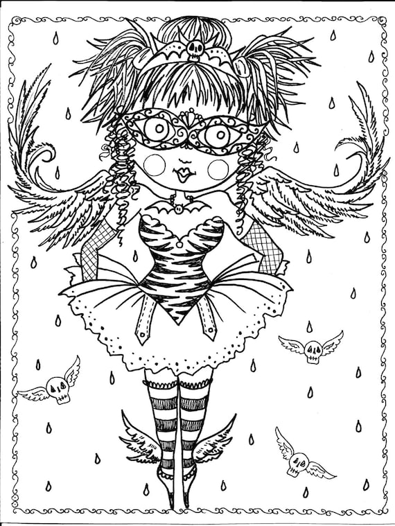 gothic coloring pages - photo#16