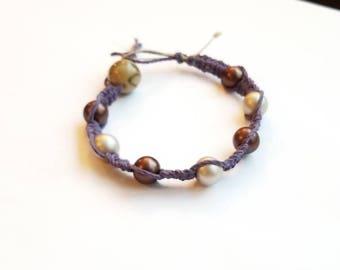 Blue hemp bracelet