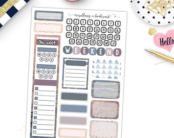 Rose Quartz and Gold Weekly Add-On Kit | 0413