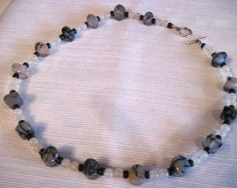 Agate and Moonstone Necklace