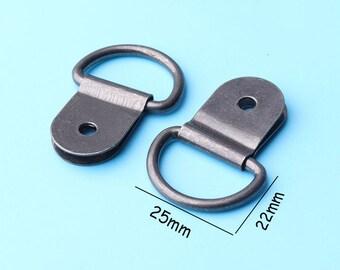 10pcs D Ring Picture Hangers, Small hanger, picture frame hanger, artwork hanger, sign hangers, photo hanger sent screw 25*22mm gg3