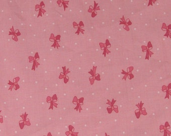 Per Yard, Pink Ribbon Fabric