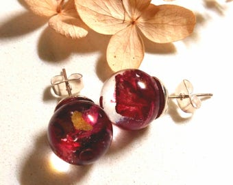 Geranium earrings