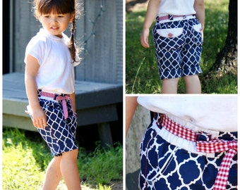 Girls Shorts PDF Sewing Pattern - from age 1-2 up to 12-14 / The Maisy / Boho / Retro /  pants, toddler, Bermuda shorts, video tutorial