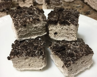 Cookies and Cream Gourmet Marshmallows  - 16 Gourmet Handcrafted Marshmallows