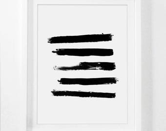 Best Selling Items, Abstract Painting, Brush Prints, Simple Prints, Black Painting, Modern Prints, Brush Stroke Print, Brush Strokes