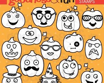 Buy 2, Get 1 FREE - Pumpkin Patch Digital Stamps - Digital Hallowene Pumpkin Stamps - Instant Download