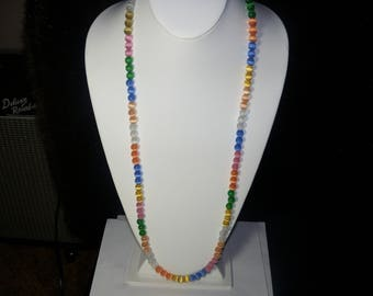 A Cute Cats Eye Beaded Necklace. (201738)