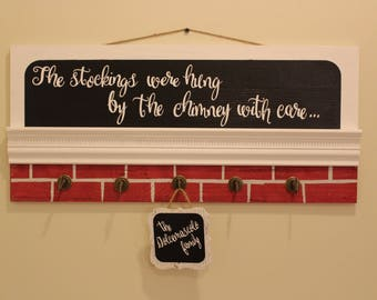 Personalized Stocking Hanger (Faux mantle)