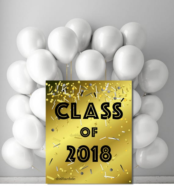 Printable 2018 Graduation party Decorations Digital Class of
