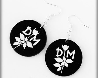 Earrings hand-painted Depeche Mode Violator